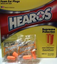 50 Pairs HEAROS Supreme Protection Foam Earplugs. Made in USA! Orange Color.