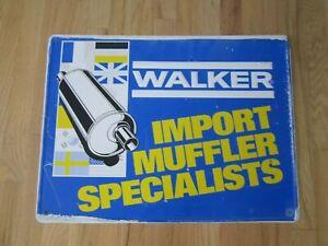 WALKER IMPORT MUFFLER SPECIALISTS METAL SIGN