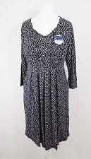 NEW Jojo Maman Bebe Maternity And Nursing Dress Size S 8 10 Black Spotted Jersey