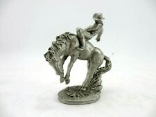 1994 Masterworks Fine Pewter Horse and Cowboy Figure 3.25in