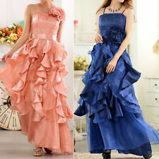 Women's No Pattern Strappy, Spaghetti Strap Ballgown Formal Dresses