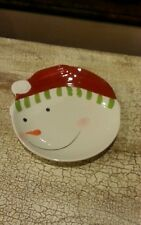 Target HOME Whimsy Snowman Christmas Santa Hat 1 Dessert Appetizer Plate
