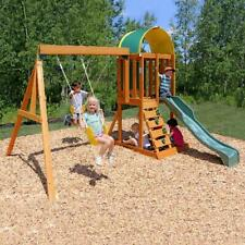 Wooden Swing Set Kids Sandbox Playground Activity Play Exercise Fun Times