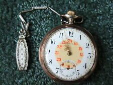 1900 Beautiful OLD .800 solid silver OMEGA GRAND PRIX PARIS Pocket Watch  WORKS!