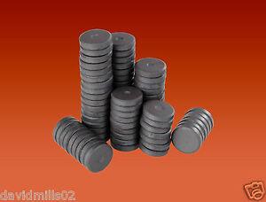 40 Round Disc Magnets 14mm x 3mm Ferrite Ceramic Disk Magnets for Craft & Fridge
