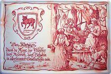 Occupazione Metzger Targa di Latta Poster Metallo Scudo ad Arco 20 x 30 CM