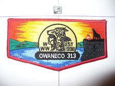 OA Owaneco Lodge 313,S-1b,1998, 1st Flap Var,Wolf, Connecticut Yankee Council,CT