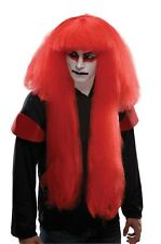 Adult Long Red Kabuki Wig Japanese Male Drama Ninja Asian Costume Mens Cosplay