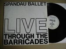 SPANDAU BALLET LIVE THROUGH THE BARRICADES ROME,15/16/17 NOVEMBER 1986 LP
