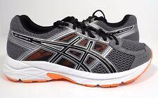 ASICS Men's Gel-Contend 4 Running Shoe Carbon/Black/Hot Orange Size 6
