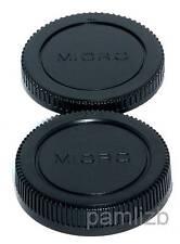 Body & Rear camera lens Cap  fits Panasonic Lumix  & Olympus  MICRO  4/3