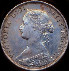 1873 HALFPENNY Victoria  Obv 7 Rev G F310 Very rare R12