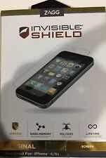 ***Zagg Invisible Shield Screen Protector For iPhone 4/4S Original. BRAND NEW**