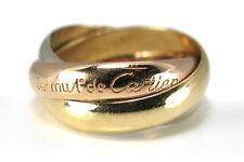 Les MUST DE CARTIER TRINITY ANELLO MIS. 46 GIALLO Rotgold Oro Bianco [brors 10561]