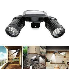 Twin-Head Solar PIR Motion Sensor LED Security Light Spotlight Floodlight Lamp