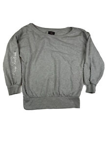 victoria secret sweatshirt large Gray