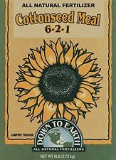 Down To Earth 6-Pound Cottonseed Meal 6-2-1 07809, New, Free Shipping