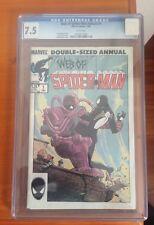Marvel Comics Web of Spiderman (1985) #1 Double Sized Annual CGC 7.5