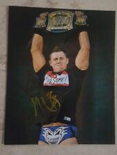 The Miz WWE Signed 8x10 Photo With Belt Auto COA Awesome!!