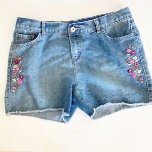 Children's Place Girl's Light Wash Denim Shorts Size 14
