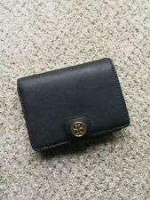 New Authentic Tory Burch Women's Red Robinson French Fold Wallet - Black