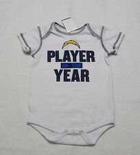 Los Angeles Chargers SD Baby Onesie White Unisex PLAYER OF THE YEAR Size 18M M75