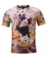 Cats All Over T-Shirt  funny cute cats and kittens 3d print printed tee v1