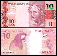 Brazil 10 Reals, 2010, P-254, UNC