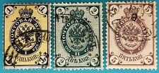Russia(Imperial)from 1860s VFU set of very early stamps1,2 and 5 kopeks MNG hor.