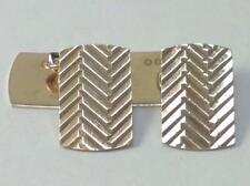 Vintage Pair of  9ct Gold Retro Cufflinks in Box – Hallmarked  1966  (5.3 g)