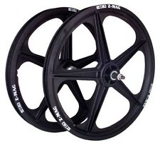 "ACS Z-mag 5-spoke Mag BMX Wheels Black 20"" Set Freewheel"