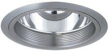 """Elco ELA101N Nickel Baffle w Nickel Ring Commercial Trims 6"""" CFL Clear Reflector"""