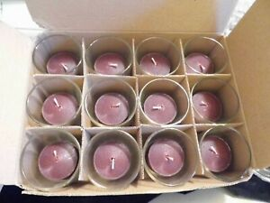 25 Red & 25 Burgundy Votive Candles  NEW