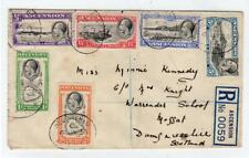 ASCENSION ISLAND: 1936 Registered  cover to Scotland (C37150)
