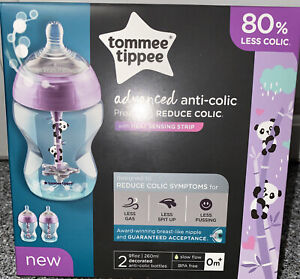 Tommee Tippee Closer to Nature Anti Colic Valve 9 Ounces 2 Count New Free Ship