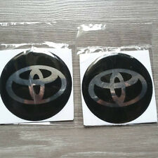 NEW 4 X TOYOTA Logo 70 mm Resin Wheel Center Caps Decal Emblem Sticker Badge