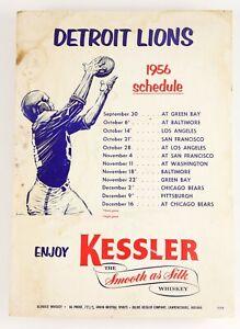1956 Kessler Whiskey Detroit Lions Football Cardboard Advertising Sign