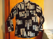 NEW MEN'S PANHANDLE SLIM  BLACK  WESTERN STYLE L/S DRESS  SHIRT ...SZ ..17--35