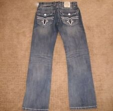 Usa Made Wrangler 13mwz Faded Denim Jeans Tag 34x34 Measure 32x33 Cowboy Easy To Lubricate Clothing, Shoes & Accessories