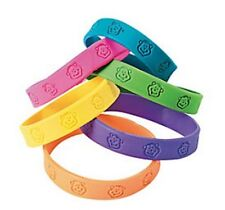 Pack of 12 - Bright Neon Monkey Wristbands - Party Bag Fillers
