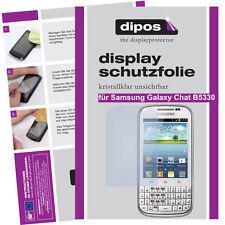 1x Samsung Galaxy chat b5330 protectoras TRANSPARENTES para protector de pantalla Lámina encaja perfectamente