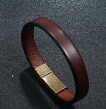 MEN/ Women Cowboy Vintage Brown Genuine Leather Bracelet / Wrist Bangle 6.5-8.7