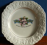 A Lord Nelson Pottery Decorative plate Nova Scotia Tartan and Floral Emblem.