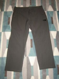 THE NORTH FACE SOFTSHELL HIKING PANTS MEN'S 38 CHARCOAL