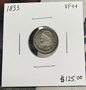 1833-P U.S. CAPPED BUST HALF DIME ~ VERY FINE++ CONDITION! C4794