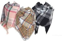 Large Ladies Double sided Tartan Check Plaid Oversized Blanket Wrap Scarf Shawl