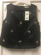Black Miss Selfridge Top - Size 8 .