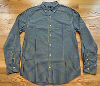 GAP Gray Yellow Striped 100% Cotton Long Sleeve Button Down Shirt Size Medium