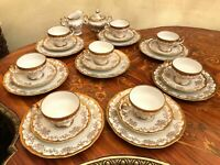 8 Cups 8 Saucers 8 Plates German Weimar Katharina 14051 Porcelain Coffee Set