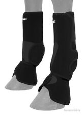 Horse Protective Sport & Bell Boots Combination in one - Vented - Black - Large